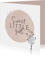 Geboorte Sweet little girl simplistisch en lief