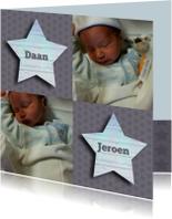 geboorte tweeling boy foto
