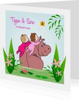 Geboorte tweeling nijlpaard