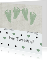 Geboorte tweeling stip
