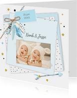 Geboorte tweeling veertjes jongen
