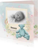Geboorte zoon waterverf -beer-