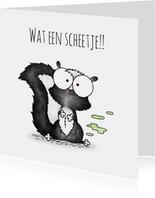 Geboortefelicitatie stinkdiertje - Wat een scheetje