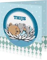 Geboortekaart beertje Thijs IH