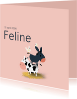 Geboortekaart boerderij thema