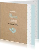 Geboortekaartjes - Geboortekaart  Hollandse klompen jongen
