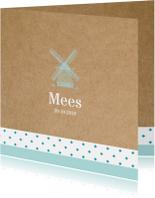 Geboortekaart Hollandse molen Mees