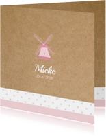 Geboortekaart Hollandse molen Mieke