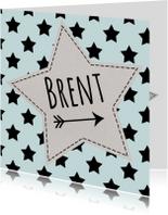 Geboortekaart karton sterren