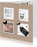 Geboortekaart kraft vlakken