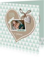 Geboortekaart krafthart mint