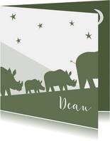 Geboortekaart neushoorn familie