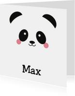 Geboortekaart Panda