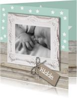 Geboortekaart sterretjes