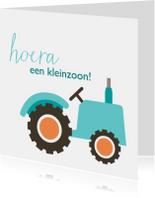 Geboortekaart tractor