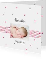Geboortekaartjes - Geboortekaart triangle meisje