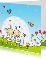 Geboortekaart tweeling Anet Illustraties