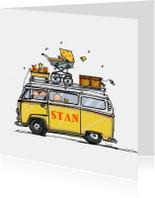 Geboortekaart Volkswagen bus