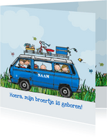 Geboortekaart VW T3 Joker blauw