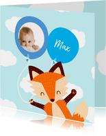 Geboortekaartje baby vos jongen