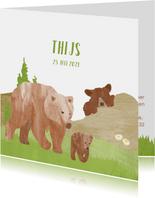 Geboortekaartje beren in de bergen