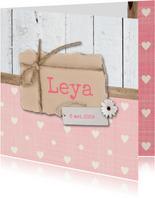 Geboortekaartje-bloem-Leya-SK