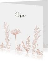 Geboortekaartje bloemenveld