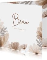 Geboortekaartje bohemian bloemen