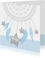Geboortekaartje dromenvanger sterren jongen
