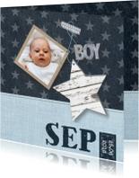 Geboortekaartje Boy Stars & Foto