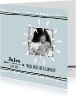 Geboortekaartje broertje Jules