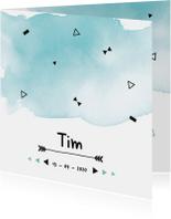 Geboortekaartje confetti Tim
