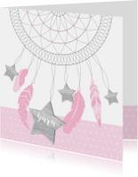 Geboortekaartje dromenvanger sterren meisje