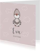Geboortekaartje duif meisje