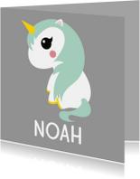 Geboortekaartje eenhoorn