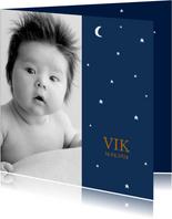 Geboortekaartje foto sterren maan jongen