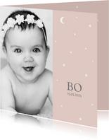 Geboortekaartje foto sterren maan meisje