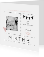 Geboortekaartje foto vlaggen 2