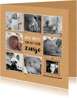 Geboortekaartje fotocollage meisje