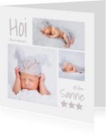 Geboortekaartje fotocollage - OT