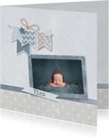 Geboortekaartjes - Geboortekaartje grijs krijt