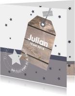 Geboortekaartje hangtag Julian