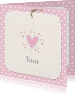 Geboortekaartje hartjes Yara