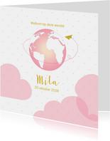 Geboortekaartjes - Geboortekaartje hoog boven de wolken