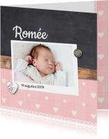 Geboortekaartje-houtkrijt-romée