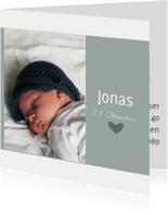 Geboortekaartje Jonas