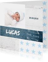 Geboortekaartje jongen Lucas