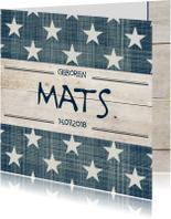 Geboortekaartje jongen Mats