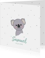 Geboortekaartje jongen met sterren en lief koalabeertje