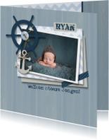 Geboortekaartje jongen nautical